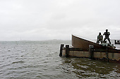 New York, New York.October 30, 2012..A sea statue at Battery Park after Hurricane Sandy ripped through lower Manhattan.