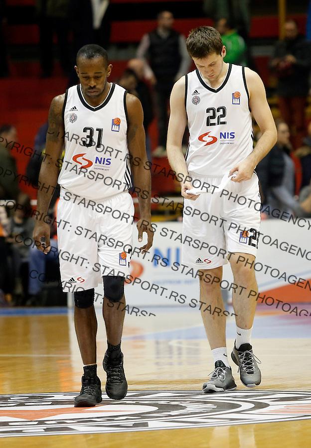 Jamar Wilson Andreja Milutinovic Aba regionalna liga Partizan - Igokea 27.12.1015. December 27. 2015. (credit image & photo: Pedja Milosavljevic / STARSPORT)