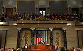 United States President Barack Obama delivers his State of the Union address before a joint session of Congress on Tuesday, January 24, 2012 on Capitol Hill in Washington, DC..Credit: Saul Loeb / Pool via CNP