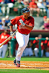 2 March 2009: Houston Astros' left fielder Carlos Lee in action during a Spring Training game against the New York Yankees at Osceola County Stadium in Kissimmee, Florida. The teams played to a 5-5, 9-inning tie. Mandatory Photo Credit: Ed Wolfstein Photo