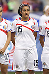 26 October 2014: Cristin Granaldos (CRC). The United States Women's National Team played the Costa Rica Women's National Team at PPL Park in Chester, Pennsylvania in the 2014 CONCACAF Women's Championship championship game. By advancing to the final, both teams have qualified for next year's Women's World Cup in Canada. The United States won the game 6-0.