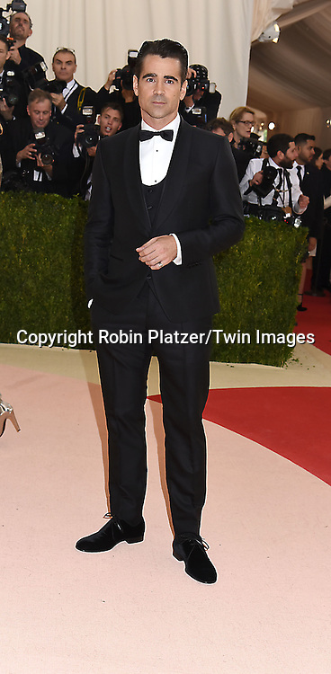 Colin Farrell attends the Metropolitan Museum of Art Costume Institute Benefit Gala on May 2, 2016 in New York, New York, USA. The show is Manus x Machina: Fashion in an Age of Technology. <br /> <br /> photo by Robin Platzer/Twin Images<br />  <br /> phone number 212-935-0770