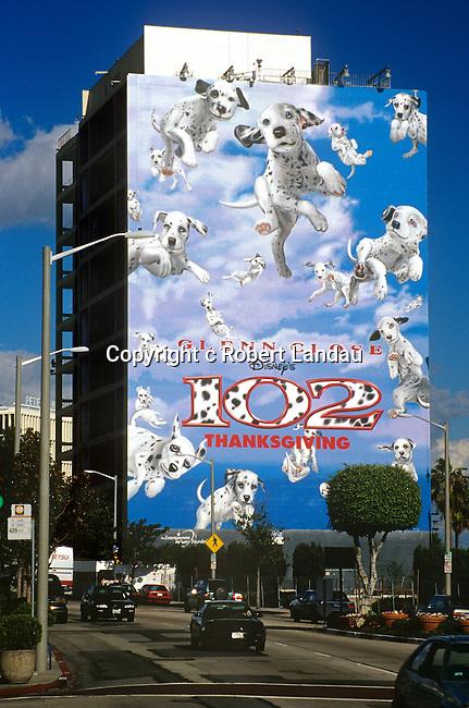 Sunset Strip mega billboard circa 2000