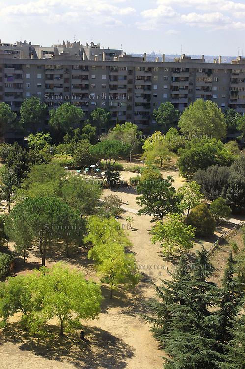 Roma, periferia.il parco delle Betulle, ..Rome suburb.