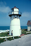 CA: Montara, California, lighthouse 2005 .Image: camontara102.Photo Copyright: Lee Foster, lee@fostertravel.com, www.fostertravel.com, (510) 549-2202..