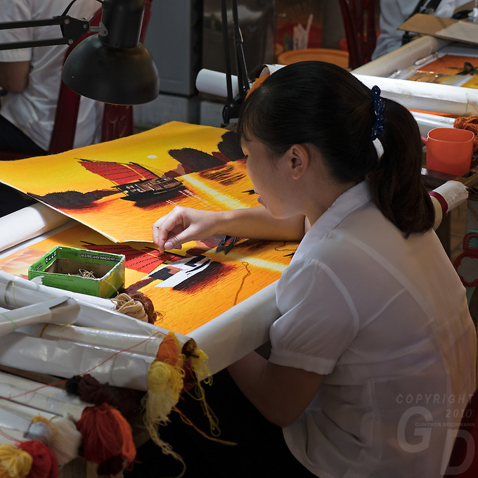 Delicate arts and craft in stitching
