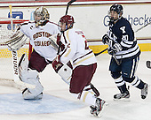 Parker Milner (BC - 35), Colin Sullivan (BC - 2), Jesse Root (Yale - 20) - The Boston College Eagles tied the visiting Yale University Bulldogs 3-3 on Friday, January 4, 2013, at Kelley Rink in Conte Forum in Chestnut Hill, Massachusetts.