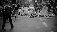 Scheldeprijs 2012..Andre Greipel down in a post-finishline crash