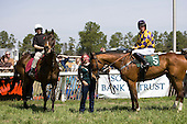 Flat Top (left) in winners circle with Bud Mon, Aiken Spring Races 2009.
