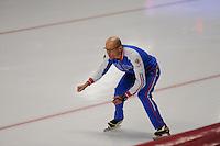 SPEED SKATING: INZELL: 04-12-2015, Max Aicher Arena, ISU World Cup, Kosta Poltavets (trainer/coach RUS), ©foto Martin de Jong