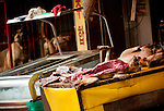 "Dogs are butchered for their meat in Busan, South Korea. August 13 is one of three ""boknal"", considered the hottest days of the year, a day when eating dog meat is considered by some to have a cooling effect on the body. Though the practice continues, many South Koreans are opposed to eating dog."