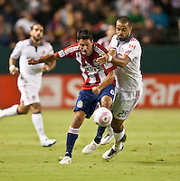 CARSON, CA – OCTOBER 9: Chivas USA defender Ante Jazic and Toronto FC forward Maicon Santos (29) during a soccer match at Home Depot Center, October 9, 2010 in Carson California. Final score Chivas USA 3, Toronto FC 0.