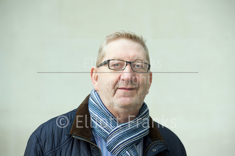 Sunday Politics <br /> BBC, Broadcasting House, London, Great Britain <br /> 26th March 2017 <br /> <br /> Len McCluskey <br /> General Secretary of Unite union <br /> arrives for Sunday Politics at the BBC <br /> <br /> Photograph by Elliott Franks <br /> Image licensed to Elliott Franks Photography Services