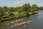 "Oxford University Rowing Clubs Eights Week. Rowing races on the River Isis Oxford. (actually the River Thames). Summer Eights is a ""bumps race"" intercollegiate rowing regatta takes place end of May in Trinity Term."