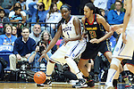 11 February 2013: Duke's Elizabeth Williams (1) and Maryland's Alicia DeVaughn (13). The Duke University Blue Devils played the University of Maryland Terrapins at Cameron Indoor Stadium in Durham, North Carolina in an NCAA Division I Women's Basketball game. Duke won the game 71-56.