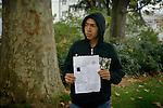 [English]  The &quot;Taskera&quot; is an Afghan identity document. It is more and more used by judges of children affairs to be sure about their minority before placing them in a foster home.<br /> <br /> [Francais]  Ali-Reza, 15 ans, presente sa taskera..Ce document d'identite afghan est de plus en plus utilise par le juge des enfants pour determiner leur age et accorder une prise en charge par l'Aide Sociale a l'Enfance.  Les expertises d'&acirc;ge, basees sur des examens osseux inadaptes, presentent une incertitude d'environ 18 mois pour les jeunes de 16 a 18 ans.  Le Code Civil stipule par ailleurs que les documents d'etat civil etablis a l'etranger font l'objet d'une presomption d'authenticite..La taskera n'assure cependant pas forcement une mise a l'abri, premiere etape necessaire a la prise en charge, faute de place dans ce dispositif.