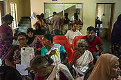 Patients wait to see the doctor at the OPD of the National Research Institute of Panchakarma in Cheruthuruthy in Thissur district of Kerala, India.