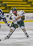 2 February 2013: University of Vermont Catamount forward and team co-captain Emily Walsh, a Senior from Suffield, CT, in action against the University of New Hampshire Wildcats at Gutterson Fieldhouse in Burlington, Vermont. The Lady Wildcats defeated the Lady Catamounts 4-2 in Hockey East play. Mandatory Credit: Ed Wolfstein Photo