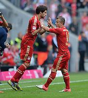FUSSBALL   1. BUNDESLIGA  SAISON 2012/2013   3. Spieltag FC Bayern Muenchen - FSV Mainz 05     15.09.2012 Einwechslung von Javi , Javier Martinez fuer Xherdan Shaqiri (v. li., FC Bayern Muenchen)