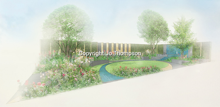 Qatari Diar - The Chelsea Barracks Garden by designer Jo Thompson
