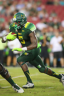 Tampa, FL - September 2, 2016: South Florida Bulls running back Marlon Mack (5) runs the ball during game between Towson and USF at the Raymond James Stadium in Tampa, FL. September 2, 2016.  (Photo by Elliott Brown/Media Images International)