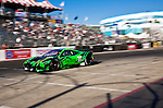LONG BEACH, CA - APR 15: American Le Mans Driver Scott Sharp/Johannes Van Overbeek of the Extreme Speed Motorsports Team drive  during practice run. Photo by Eduardo E. Silva