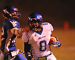 Water Valley's Adam Langham (12) vs. Aberdeen in Water Valley, Miss. on Friday, October 21, 2011. Water Valley won 20-14.