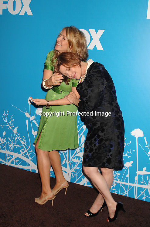 Joely Fisher and step sister Carrie Fisher..arriving at The FOX TV Upfront on May 17, 2007 at Wolman Rink in Central Park in New York City. ..Robin Platzer, Twin Images........212-935-0770 ..
