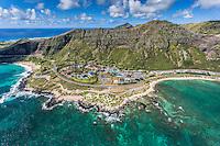 An aerial view of Sea Life Park, Makapu'u, O'ahu.