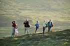 June 6, 2012; Team members pause on a sunset walk on Inishark Island, Ireland...Photo by Matt Cashore/University of Notre Dame