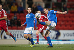 St Johnstone v Aberdeen.....07.12.13    SPFL<br /> Just out of reach, Frazer Wright can't make contact with this cross<br /> Picture by Graeme Hart.<br /> Copyright Perthshire Picture Agency<br /> Tel: 01738 623350  Mobile: 07990 594431