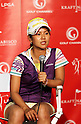 Ai Miyazato (JPN), MARCH 30, 2011 - Golf : Ai Miyazato of Japan attends a press conference during the LPGA Kraft Nabisco Championship at Mission Hills Country Club in Rancho Mirage, California, USA. (Photo by Yasuhiro JJ Tanabe/AFLO).