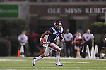 Ole Miss quarterback Randall Mackey (1) runs upfield against Southern Illinois in the 4th quarter at Vaught-Hemingway Stadium in Oxford, Miss. on Saturday, September 10, 2011.