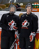Ryan Ellis (Canada - 8), Thomas Hickey (Canada - 4) - Team Canada practiced the morning of Tuesday, December 30, 2008, at Scotiabank Place in Kanata (Ottawa), Ontario during the 2009 World Junior Championship.