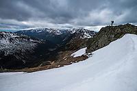 Female hiker near Kasprovy Wierch (1987m), Tatra mountains, Poland