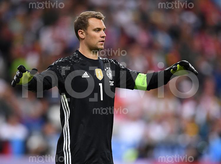 FUSSBALL EURO 2016 GRUPPE C IN PARIS Deutschland - Polen    16.06.2016 Torwart Manuel Neuer (Deutschland)