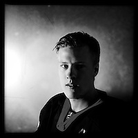Ice Men Cometh&hellip; Tomas Omarsson, 19, Iceland..An iPhone portrait series on young men competing in the 2012 IIHF Ice Hockey World Championships Division 3. The tournament  was contested by countries New Zealand, Iceland, China, Bulgaria and Turkey at Dunedin Ice Stadium. Dunedin, Otago, New Zealand. 17th January 2012. Photo Tim Clayton
