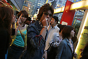 Saturday evening crowds in the young persons district of Shibuya, Tokyo, Japan.