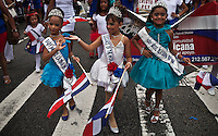 Dominican girls takes part during the Bronx Dominican parade in New York July 28, 2013 by Kena Betancur / VIEWpress