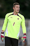 26 September 2014: Boston College's Alex Kapp. The Duke University Blue Devils hosted the Boston College Eagles at Koskinen Stadium in Durham, North Carolina in a 2014 NCAA Division I Men's Soccer match. Duke won the game 1-0.