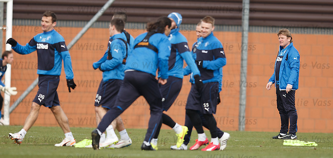 Stuart McCall at training today