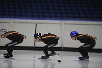 SCHAATSEN: HEERENVEEN: 18-11-2014, IJsstadion Thialf, Selectietraining, ©foto Martin de Jong