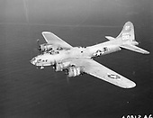 The B-17 is one of the most recognizable bomber aircraft of World War 2. During its production run, over 12,731 B-17's were built in various configurations. The B-17F was essentially a production version of the B-17E after all the improvements and modifications were incorporated into the design. The defensive armament was increased to eleven .50-caliber machine guns including increased frontal protection in the form of cheek guns. More powerful engines and improved propellers allowed for a maximum bomb load of 8,000 lbs. The B-17F could carry almost double the bomb load of any previous version, but the normal cruise speed dropped by almost 70 miles per hour due to a large increase in aircraft gross weight. Three thousand four hundred and five -F models were built by three manufacturers: Boeing (2300), Douglas (605) and Lockheed-Vega (500).  Like the B-17E, combat experience pointed out problems with B-17F design which were rapidly fixed during the production run. Major improvements done while the B-17F was in production included the addition of external bomb racks, cheek guns (initially a mod center improvement), and the Bendix chin turret which became a standard on the B-17G. Only a few remain with about a dozen in flying condition.  A total of 3405 B-17Fs were built--2300 by Boeing, 605 by Douglas, and 500 by Lockheed-Vega..Credit: U.S. Air Force via CNP
