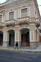 Restored Spanish colonial building in Riobabmba, Ecuador