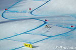 Norwegian Alpine Ski Team athlete Kjetil Jansrud skiing to third place in the Birds of Prey World Cup Downhill ski race at the Beaver Creek Resort in Avon, CO on Novemebr 30, 2012.