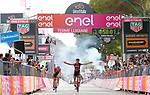 Silvan Dillier (SUI) BMC Racing Team wins Stage 6 of the 100th edition of the Giro d'Italia 2017, running 217km from Reggio Calabria to Terme Luigiane, Italy. 11th May 2017.<br /> Picture: LaPresse/Simone Spada   Cyclefile<br /> <br /> <br /> All photos usage must carry mandatory copyright credit (&copy; Cyclefile   LaPresse/Simone Spada)