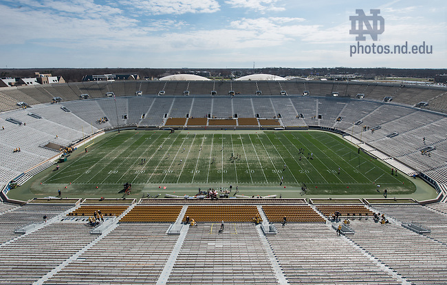 Apr. 12, 2014; Notre Dame Stadium before the Blue-Gold game 2014. (Photo by Matt Cashore)