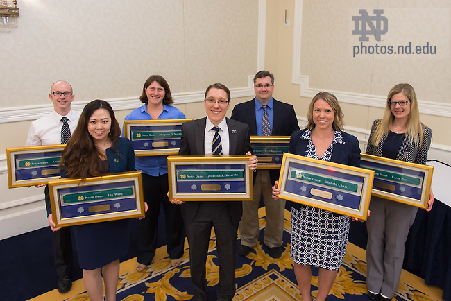 May 12, 2016; Spring 2016 Green Belt awardees (Photo by Matt Cashore/University of Notre Dame)