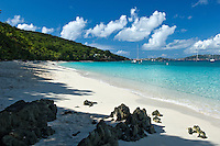Honeymoon Beach.<br /> Virgin Islands National Park<br /> St John. US Virgin Islands