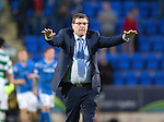 St Johnstone v Celtic&hellip;.McDiarmid Park, Perth.. 11.05.16<br />Tommy Wright acknowledges the crowd at full time<br />Picture by Graeme Hart.<br />Copyright Perthshire Picture Agency<br />Tel: 01738 623350  Mobile: 07990 594431